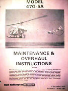 Bell Helicopter 47g-5a Service And Overhaul Manual