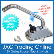 12v Electric Water Pump Faucet Tap And Switch-for Boat/galley/caravan/motorhome/rv