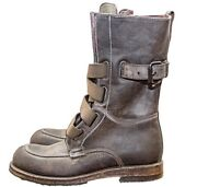 I.am Mens Luxury Charcoal Boots Very Rare Military Style Lace Up 1600