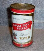 Old Great Falls Select Flat Top Beer Can