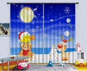 3d Christmas Wind 51 Blockout Photo Curtain Printing Drapes Fabric Window Ca
