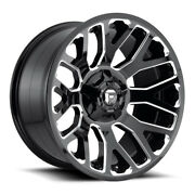 Fuel Warrior D607 Rim 20x9 8x180 Offset 1 Gloss Black And Milled Quantity Of 4
