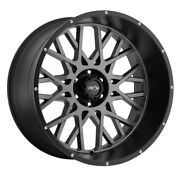 Vision Rocker 24x12 5x139.7 Et-51 Anthracite With Satin Black Lip Qty Of 4