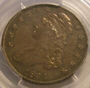 Nice 1834 Capped Bust 50c Half Dollar Pcgs Au 55 Small Date Sm Letters