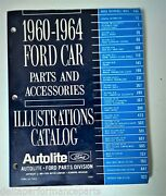 1960-1964 Ford Car Parts And Accessories Illustrations Catalog