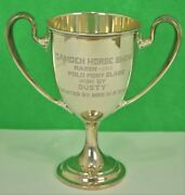 Camden Horse Show March 1912 Polo Pony Class Sterling Trophy Won By 'dusty'