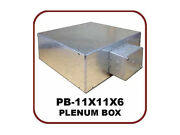 Owi Pb-11x11x6 Ul/plenum Rated Metal Box With Duplex Electrical Outlet