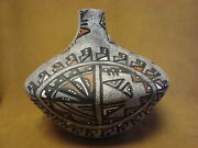 Native American Jemez Pueblo Pottery Clay Fluted Pot By Fragua