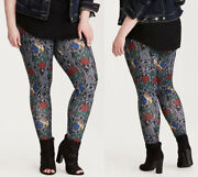 Torrid Beauty And The Beast Stained Glass Leggings Pants - Womens Plus Size 4x