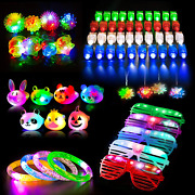 Huge Lot 68pcs Led Light Up Toys Party Favors,glow In The Dark Party Supplies