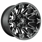 Fuel Battle Axe D578 20x9 6x135/6x139.7 Et20 Gloss Black And Milled Qty Of 4