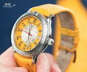 Longines Lindbergh Spirit Collection Watch Hour Angle Special Series Orange Rare