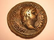 Nero Ae As Vf 54-68 Ad Temple Of Janus And Attractive