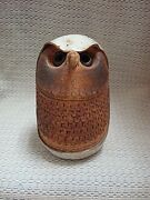 UNIQUE Handcrafted Pottery Abstract OWL Sculpture Figurine ~ Signed Vande'
