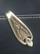 Purse Hook Old Colony 1847 Rogers Vintage Antique Silverplate Keychain Key Ring