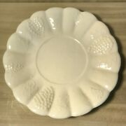 Vintage~California Pottery~716~White~Ceramic~Round~Serving~Tray~Platter~Grapes