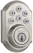 Electronic Deadbolt Single Cylinder In Satin Nickel Featuring Smartkey Security