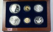 1993 Bill Of Rights Commem 5 1 50c Proof And Unc Gold Silver Clad 6 Coin Set Jah