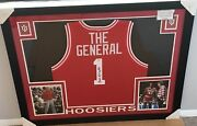Bob Bobby Knight Autographed Signed Indiana Hoosiers Jersey Custom Framed