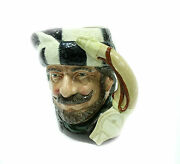 Royal Doulton Large Character Jug The Trapper Porcelain Stein Mug D6609 1966