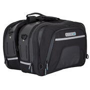 Spada Luggage Expandable Touring Motorcycle Panniers Inc Wp Cover Black- 19/27l