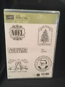 Stampin Up Antique Tags New, Clear Mount, Hostess Exclusive