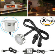 30pcs 31mm Stainless Steel Outdoor Yard Landscape Driveway Led Deck Step Lights