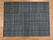 9and039x11and0399 Handknotted Gabbeh Navy Blue Wool And Silk Oriental Rug G39748