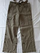 Women's Charcoal Cargo Pants Size 10 By Express, Pre-owned