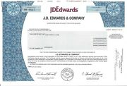 J. D. Edwards And Company........2003 Common Stock Certificate