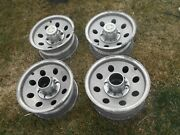69-87 Chevy K-10 Truck 15x7 4wd Aluminum Alloy Wheels Oem Used