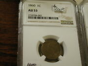 1860 Indian Penny Broad Bust Au53 Ngc