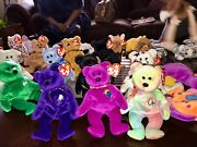 Ty Beanie Babies - Mixed Lot Of 28 Beanies No Duplicate Toys Collection Rare
