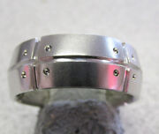 Estate And Company Stream America Ring 18k White Gold Size 9.5 Make Offer