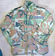 Us Military Field Jacket • Nato Mountain Camouflage Camo Coat + Liner • Med. Usa