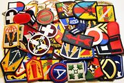Lot Of 60 Plus Assorted Army And Air Force Shoulder Multicolor Insignia Patches
