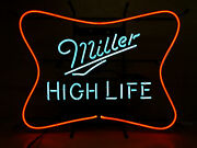 Miller High Life Soft Cross Neon Sign - New - We Ship Neons - 25 X 19 See Pics