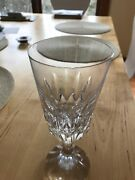 2 Baccarat D'assas Cut Water Goblets - Micro Rim Chip- French Crystal - Signed