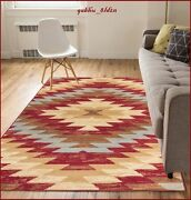 8 X 10 Western Decor Rugs Southwest Style Living Room Area Rug Native Red Beige