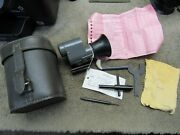 Sa Finnish M55 Recoiless Rifle Optical Sight W/ Leather Case Tools And Mount