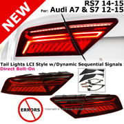 Lci Facelift Style Led Dynamic Sequential Signal Tail Lamp 12-15 S7 A7 14-15 Rs7