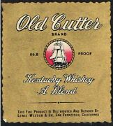 Unused 1940s California San Francisco Lewis-westco Old Cutter Whiskey Label