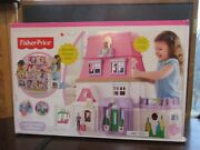 Fisher Price Loving Family Doll House W/ Mom Dad Baby Couch And Infant Seat Nib