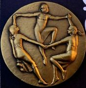 Society Of Medalists Issue No. 77, 1968 By Nina Winkel 70 Mm Bronze Medal N124