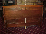 Antique Full Size Sleigh Bed Head Board And Foot Board No Side Rails Needs Work