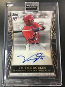 2018 Topps Industry Summit Victor Robles Rookie Rc Autograph Encased Auto 1/1