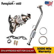 For 2001-2005 Honda Civic 1.7l Direct Exhaust Pipe Fit Catalytic Converter Set