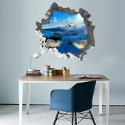 3d Big Shark And Seagull 62 Wall Murals Wall Stickers Decal Breakthrough Aj Ca