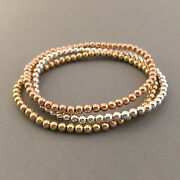 Beaded Ball Bracelet Available In Gold Fill Rose Gold Fill Or Sterling Silver