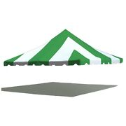 Premium Pole Tent Canopy Green White 20x20 16 Oz Replacement Block Out Vinyl Top